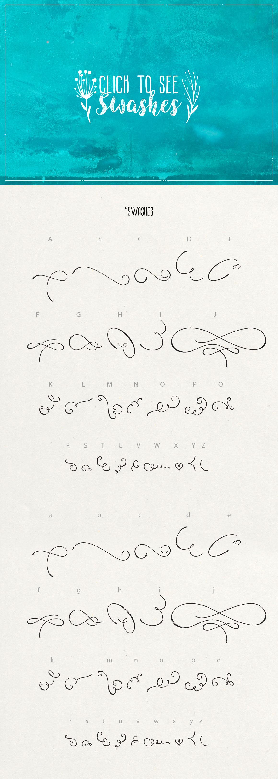Angeline Font + SWASHES example image 6
