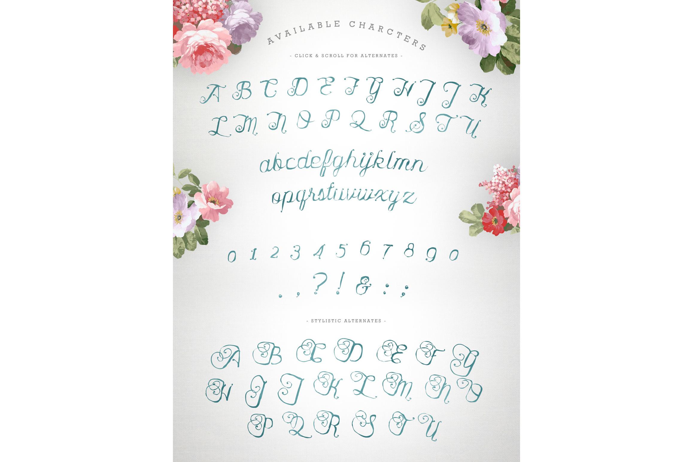 Karenina Script Font + Cute Vectors example image 10