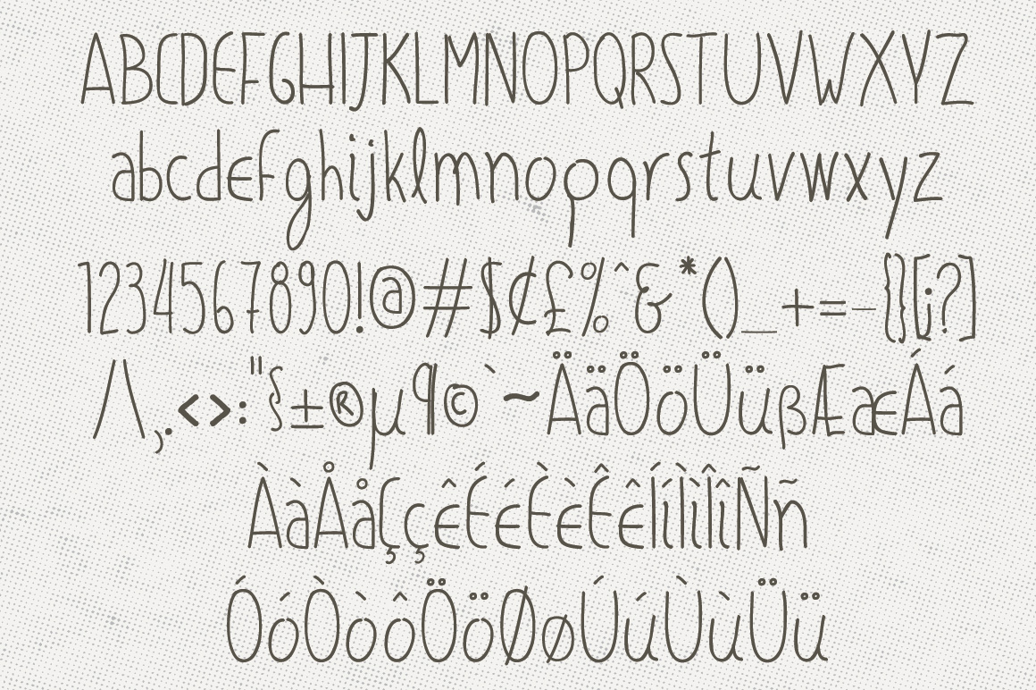 Olive Hand Drawn Font + Decorations example image 3