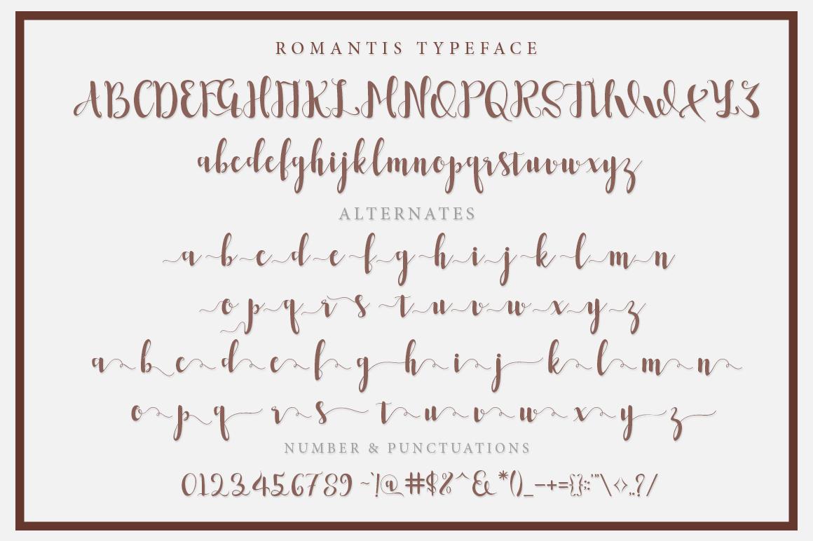 Romantis Script example image 6
