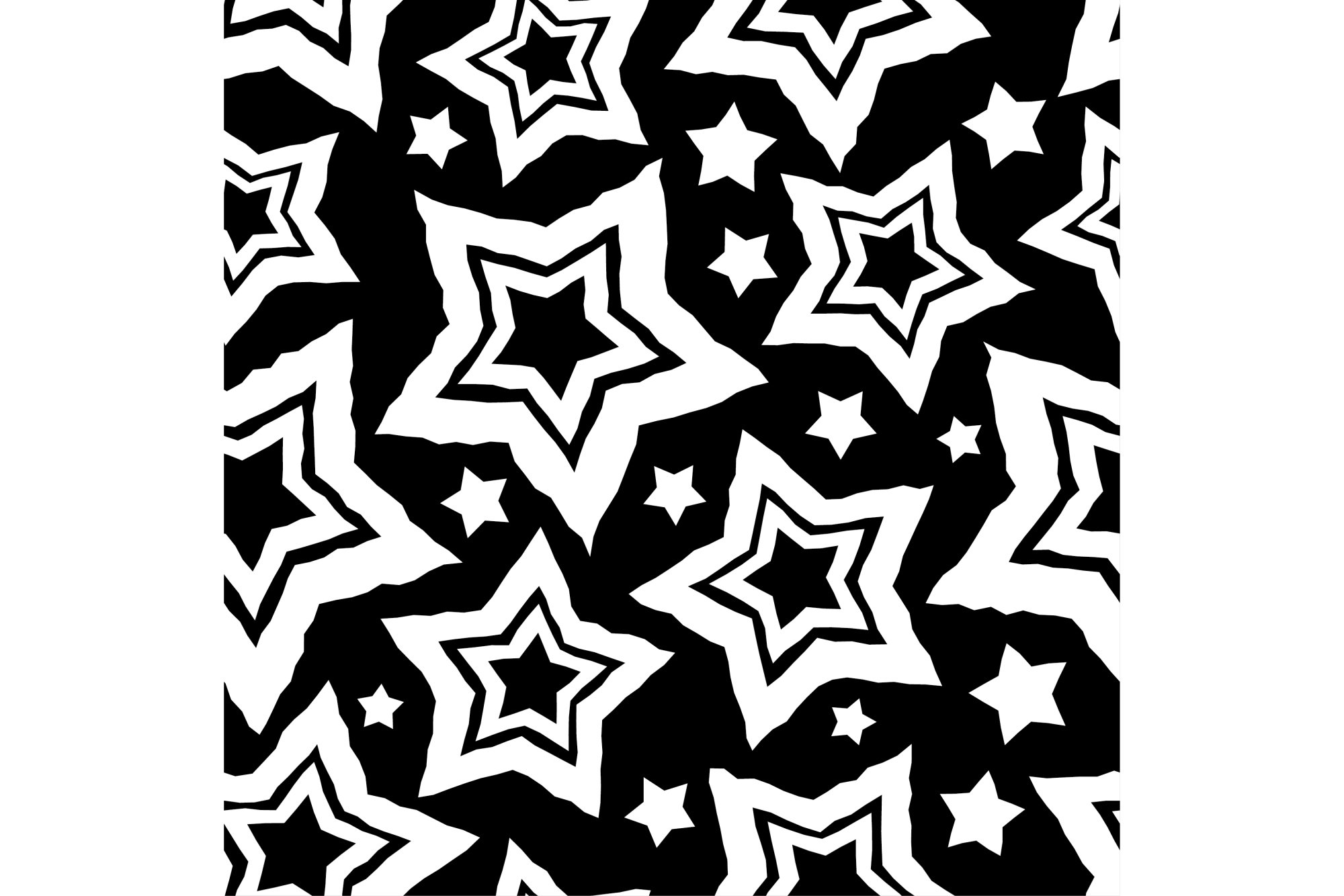 Set of 12 seamless vector backgrounds with decorative stars.  example image 10