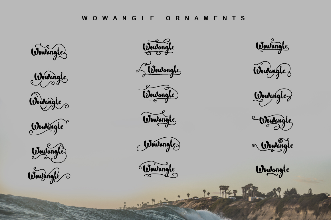 Wowangle Brush Script (Bonus Font) example image 4