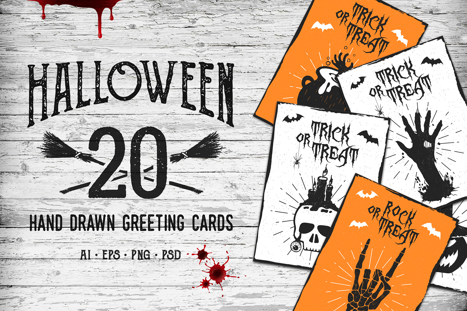 Halloween. 20 Greeting Cards example image 1