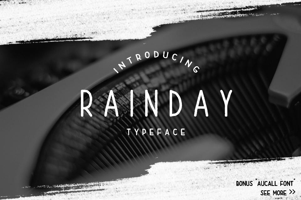Rainday Typeface Font example image 1