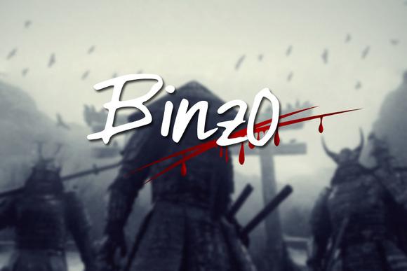 Binzo Font example image 1