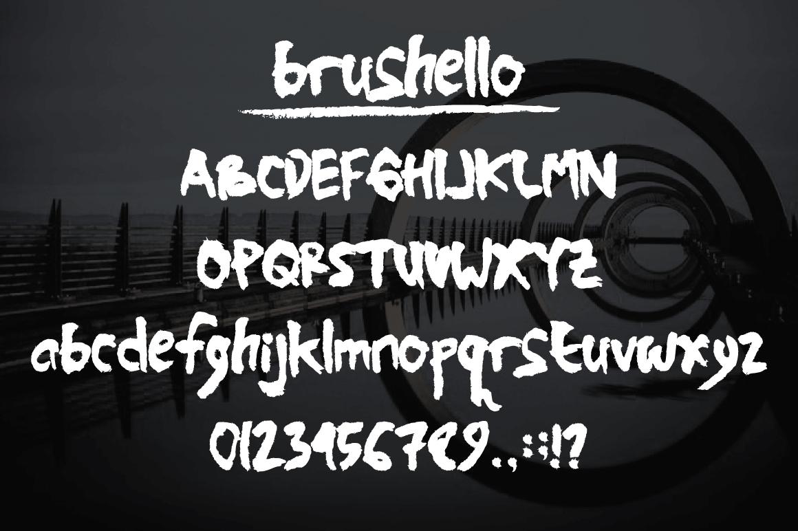Brushello Typeface example image 2