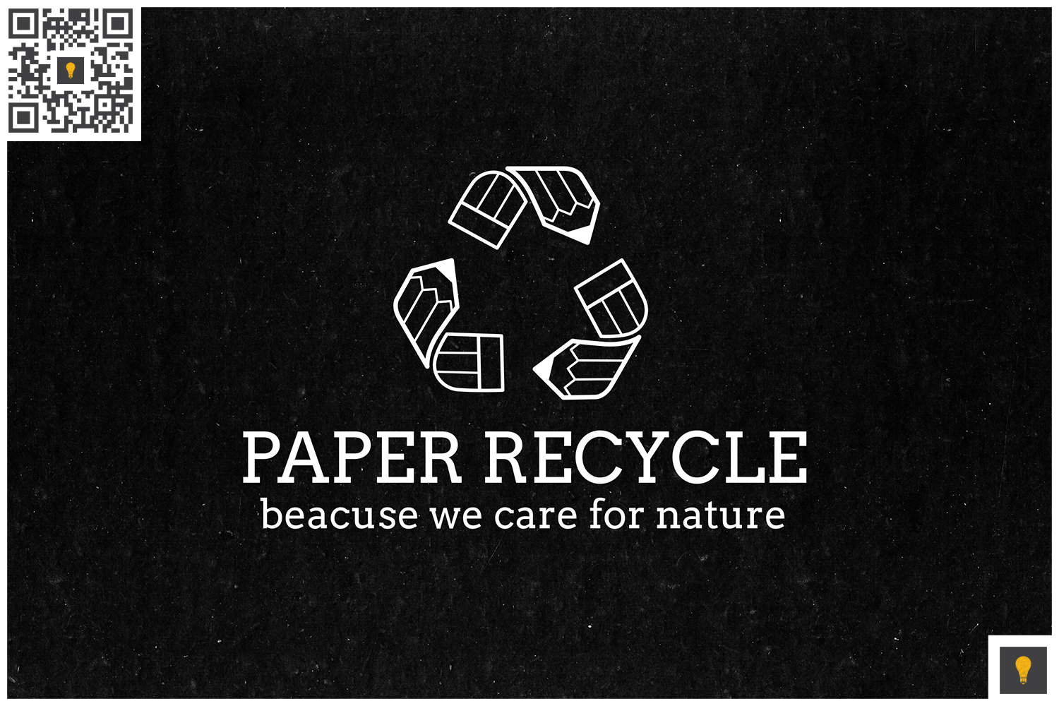 Paper Recycle Logo White