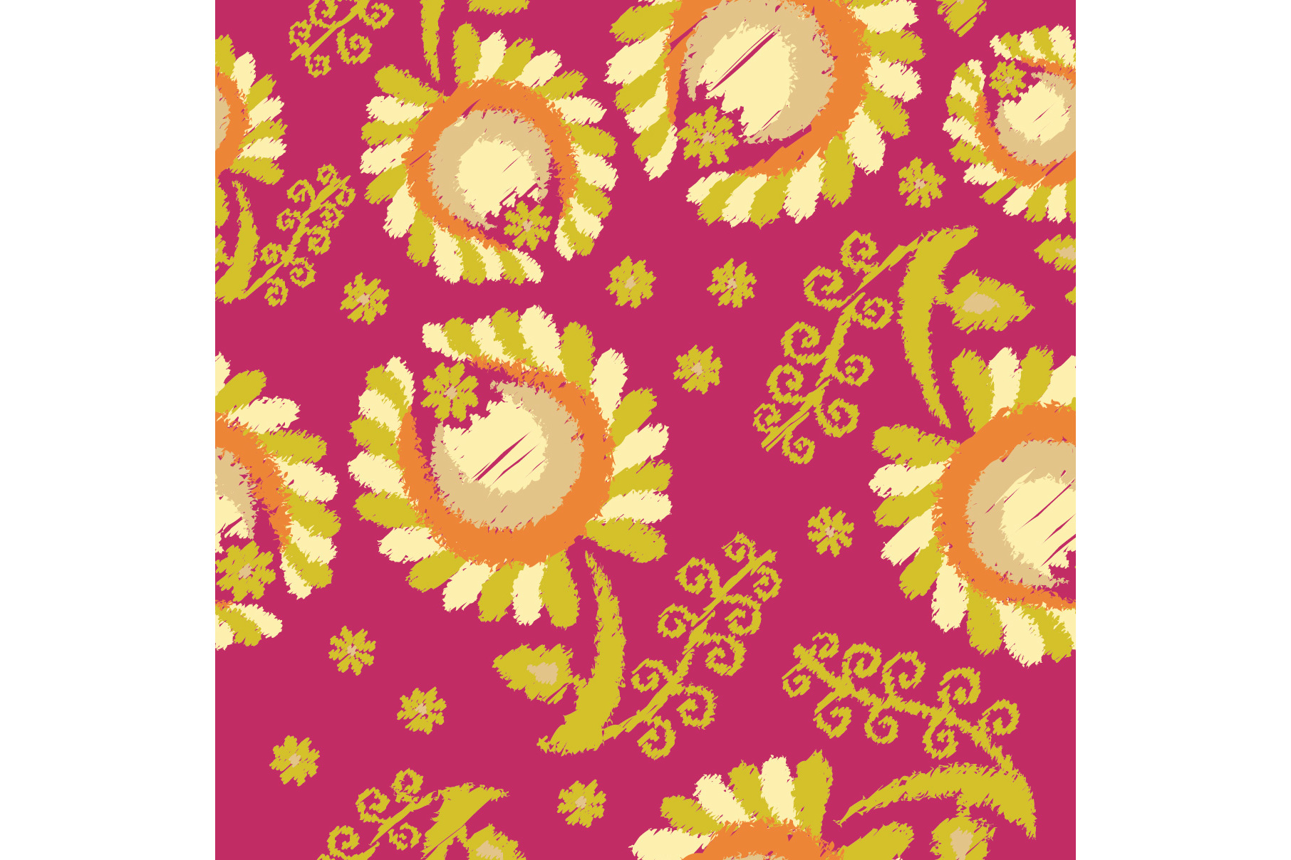 Set of 12 seamless pattern with decorative flowers.  example image 5