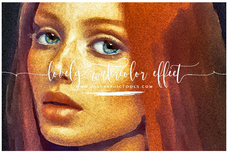 Lovely Watercolor Effect | Photoshop Actions example image 1