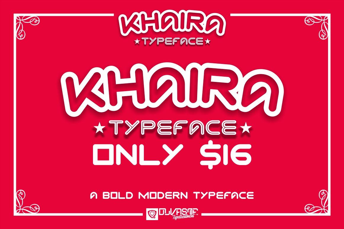 KHAIRA TYPEFACE example image 3