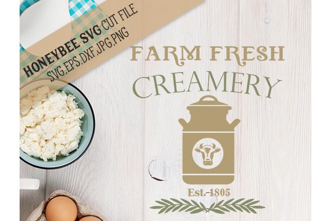 Farm Fresh Creamery svg example image 1