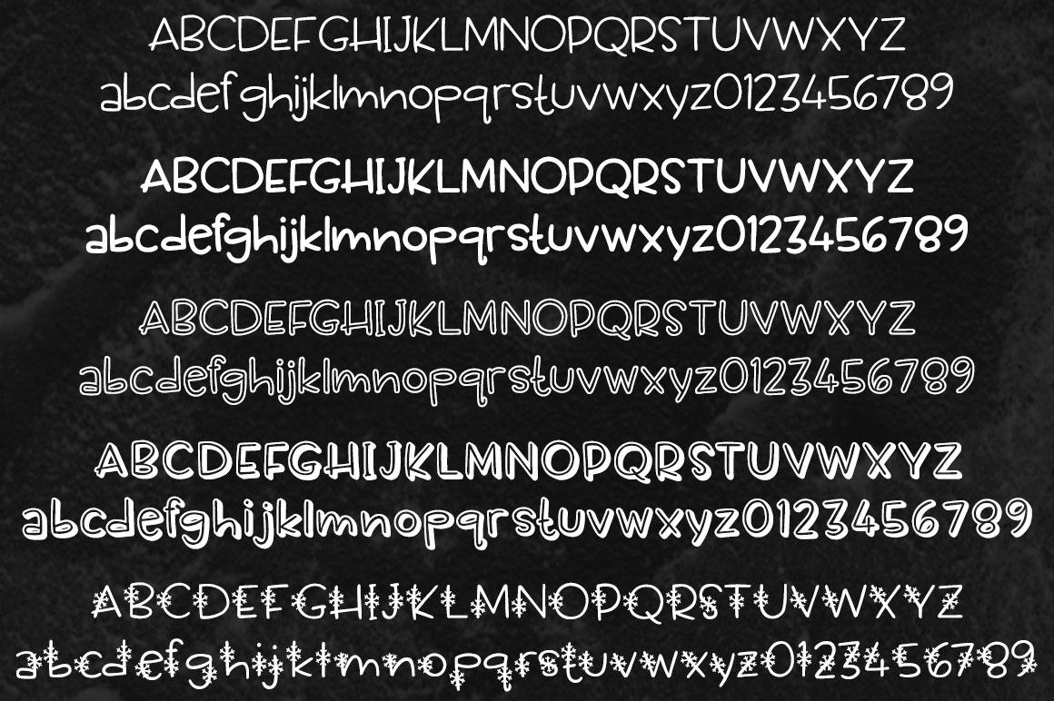 Scamper: five alphabet samples