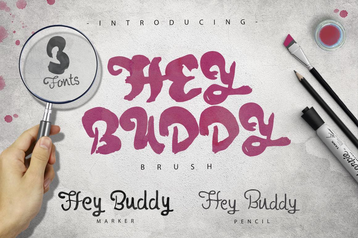 Hey Buddy! 3 Fonts. example image 1