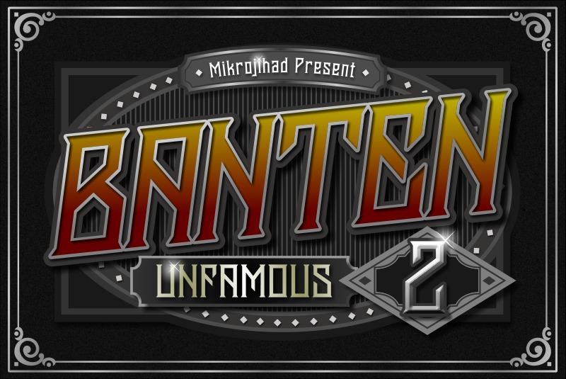 Banten Unfamous 2 - 3 Fonts example image 2