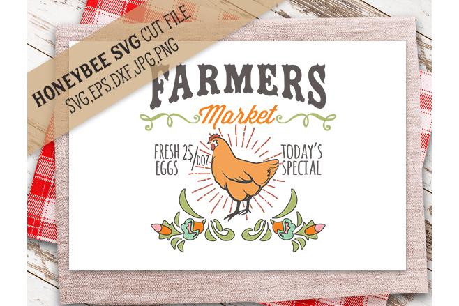 Farmers Market Chicken svg example image 1