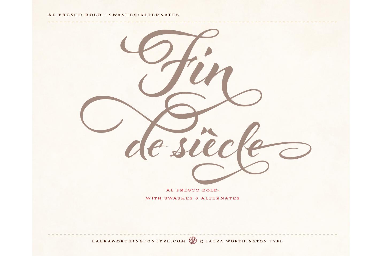 al fresco font family free download