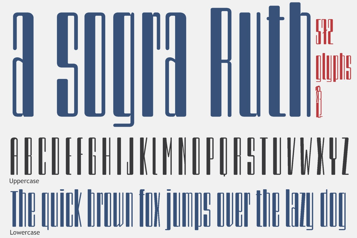 a sogra Ruth -alphabet font-