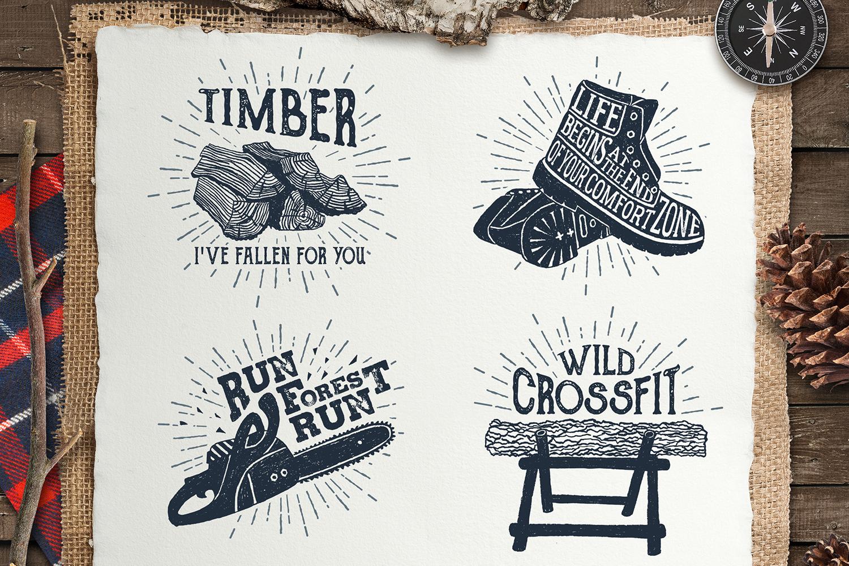 Lumberjack. Vintage Badges (part 1) example image 4