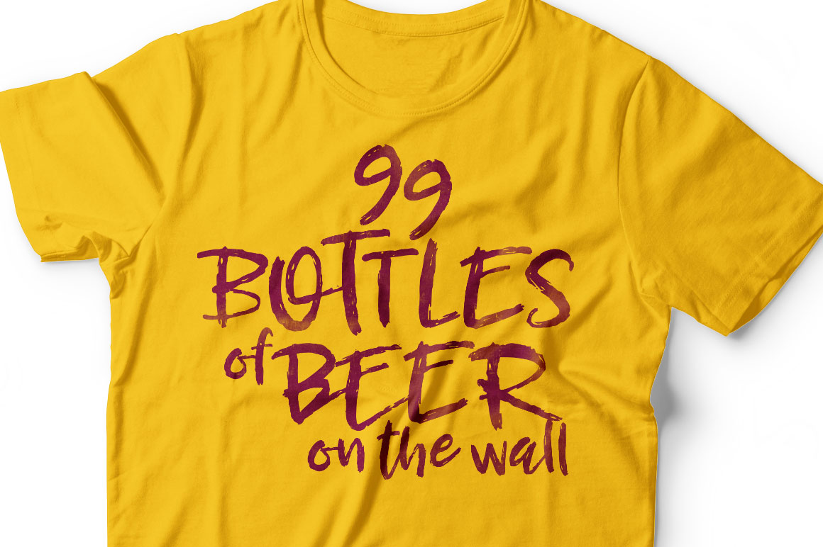 Breezy Beach: beer t-shirt mockup idea