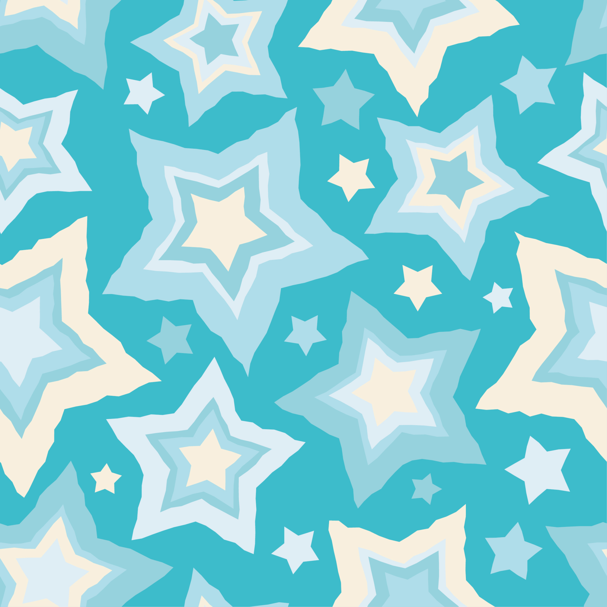 Set of 12 seamless vector backgrounds with decorative stars.  example image 12