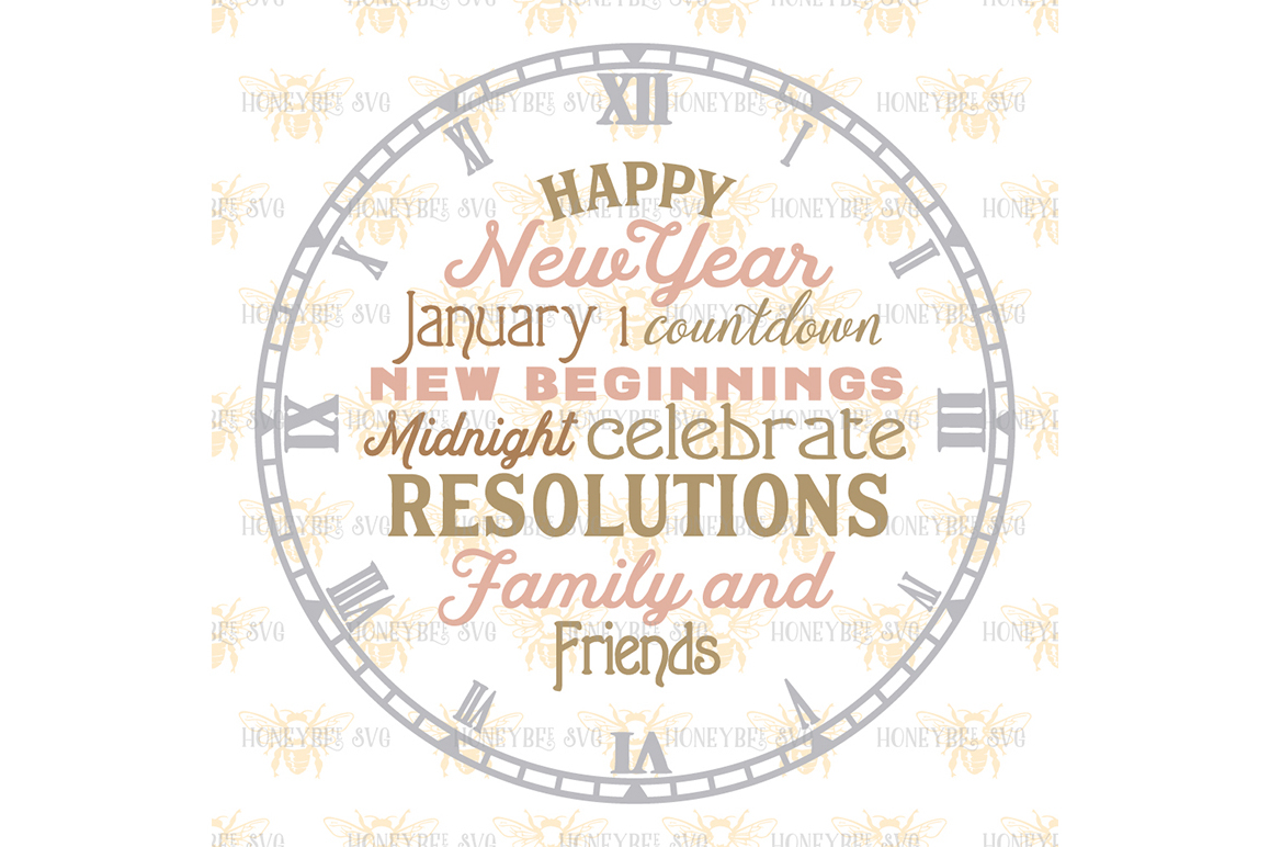 Happy New Year Clock example image 2