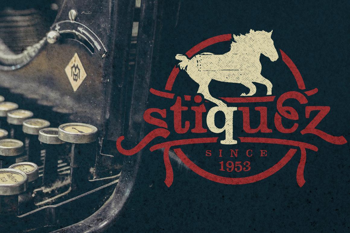 Stiquez Font example image 2