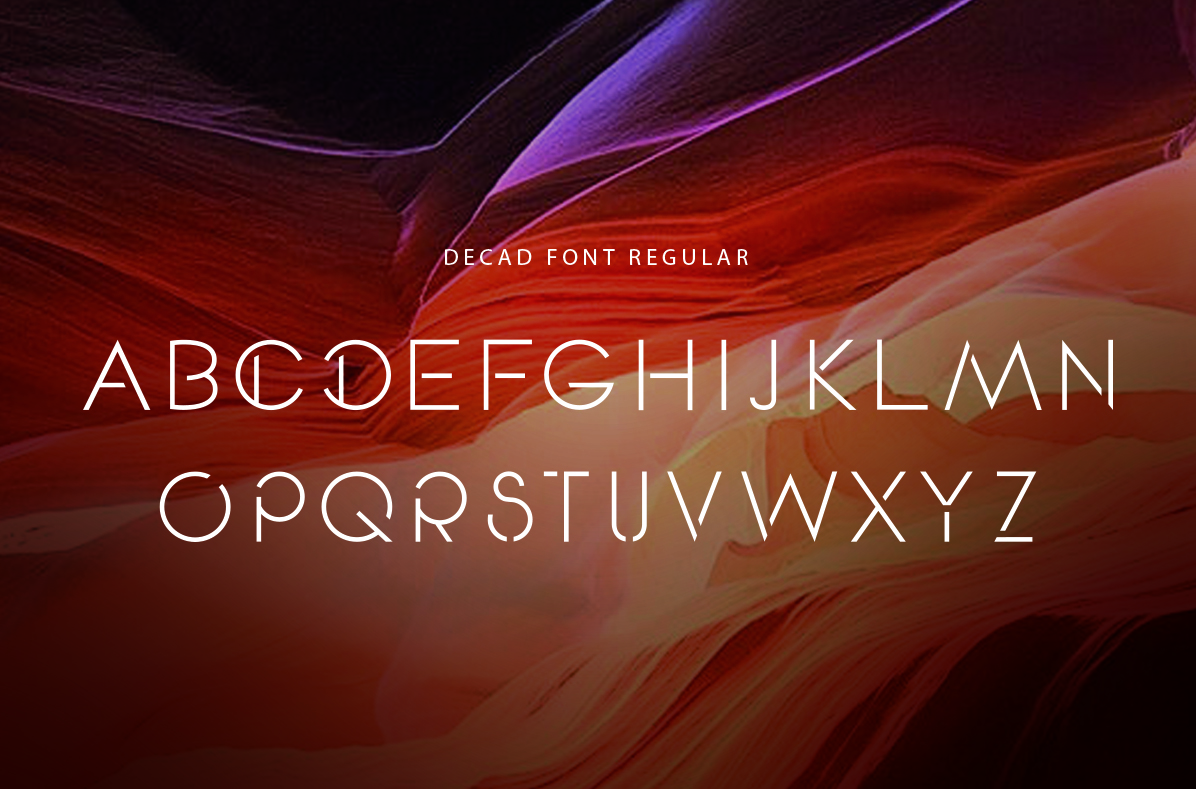 DECAD font example image 2