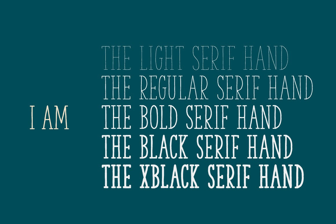The Serif Hand Family example image 3