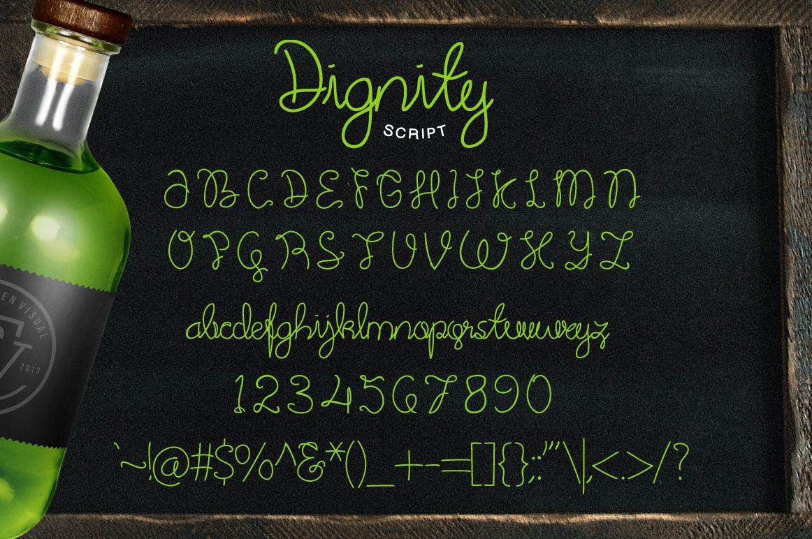 Dignity Cursive + Bonus example image 4
