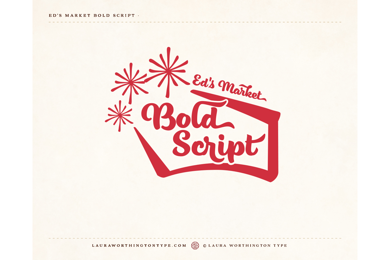 Ed's Market Bold Script example image 2