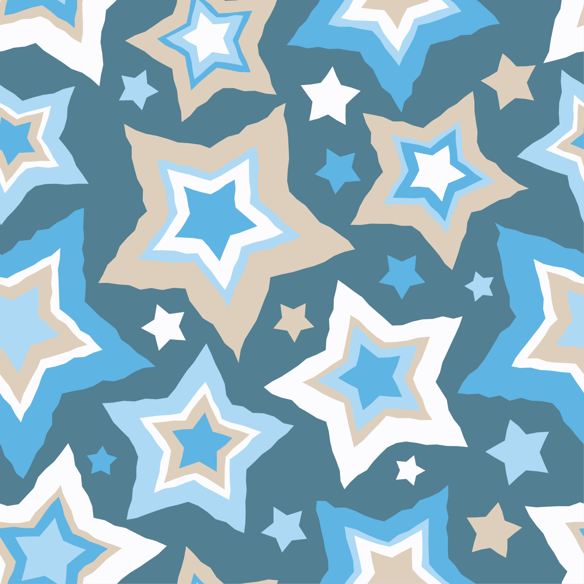 Set of 12 seamless vector backgrounds with decorative stars.  example image 13