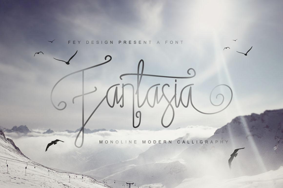 Fantasia Monoline Calligraphy And Bonus example image 8