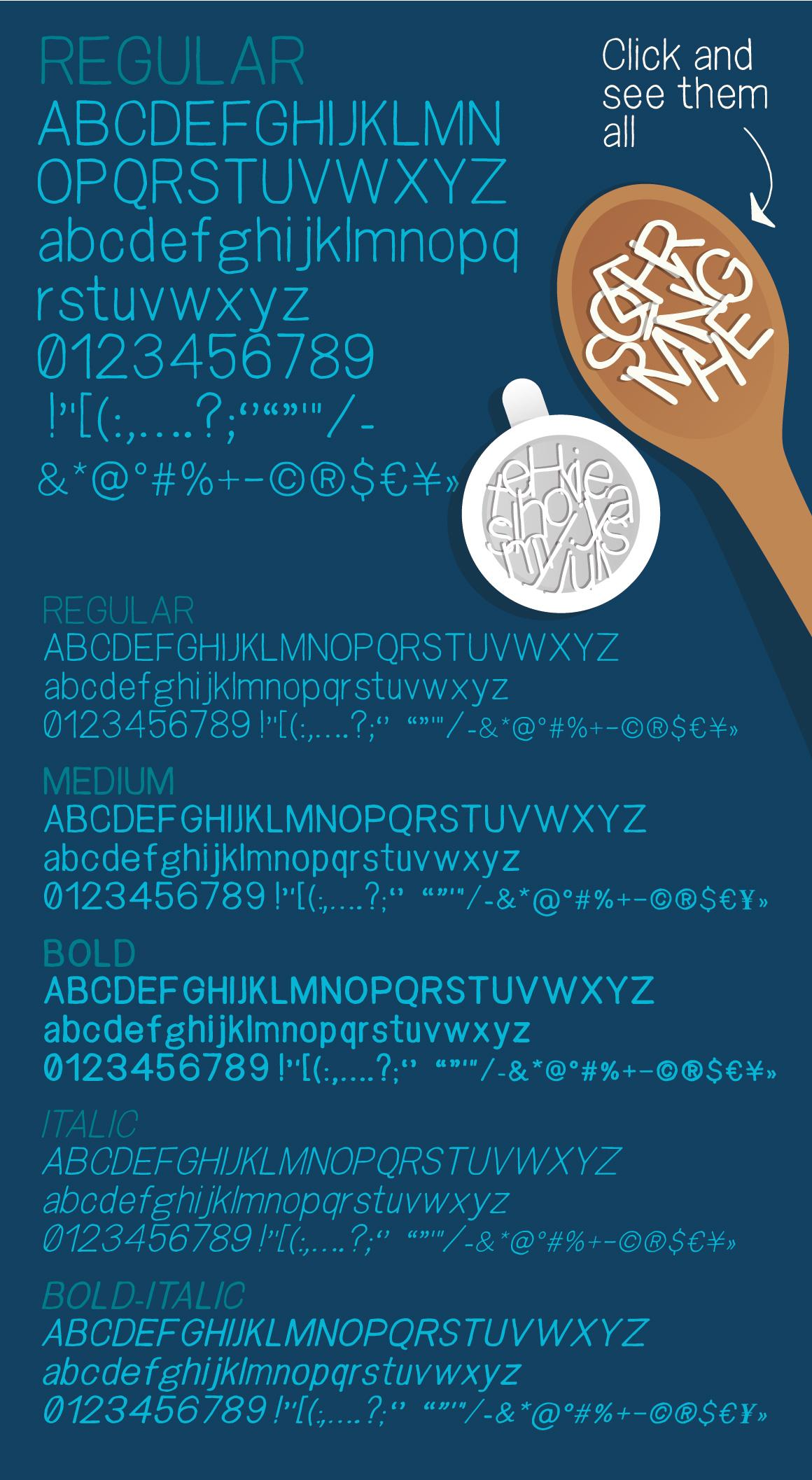 Snacker - Handlettered sans serif font