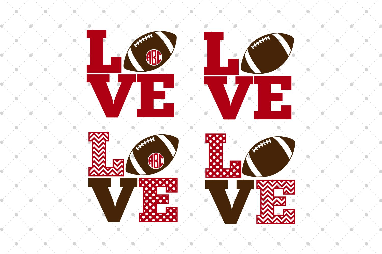 Football Love SVG Cut Files example image 1