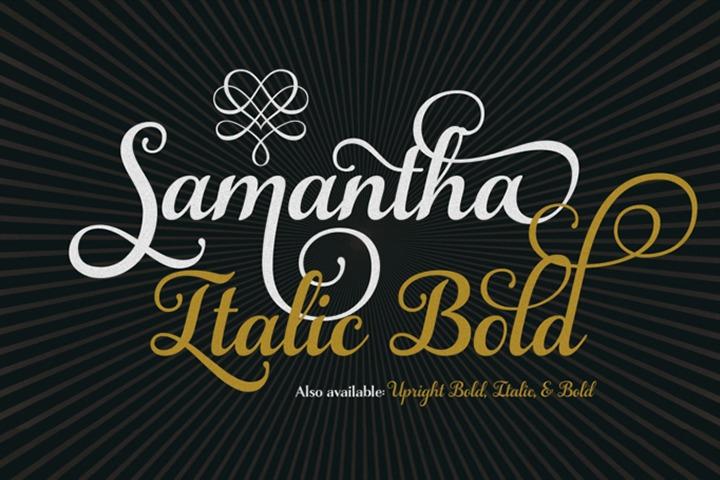 Samantha Script Italic Bold example image 1