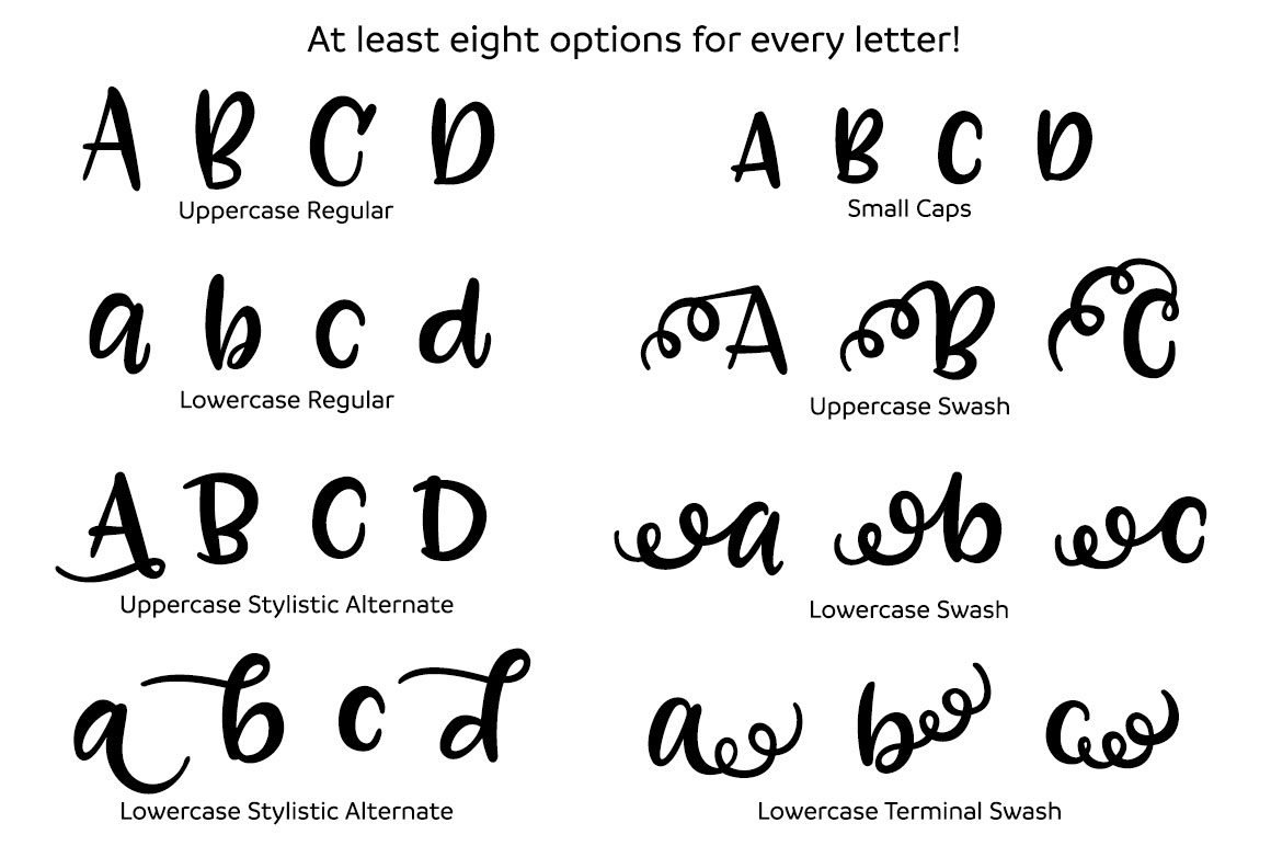 Zooky Squash - minimum of eight options per letter