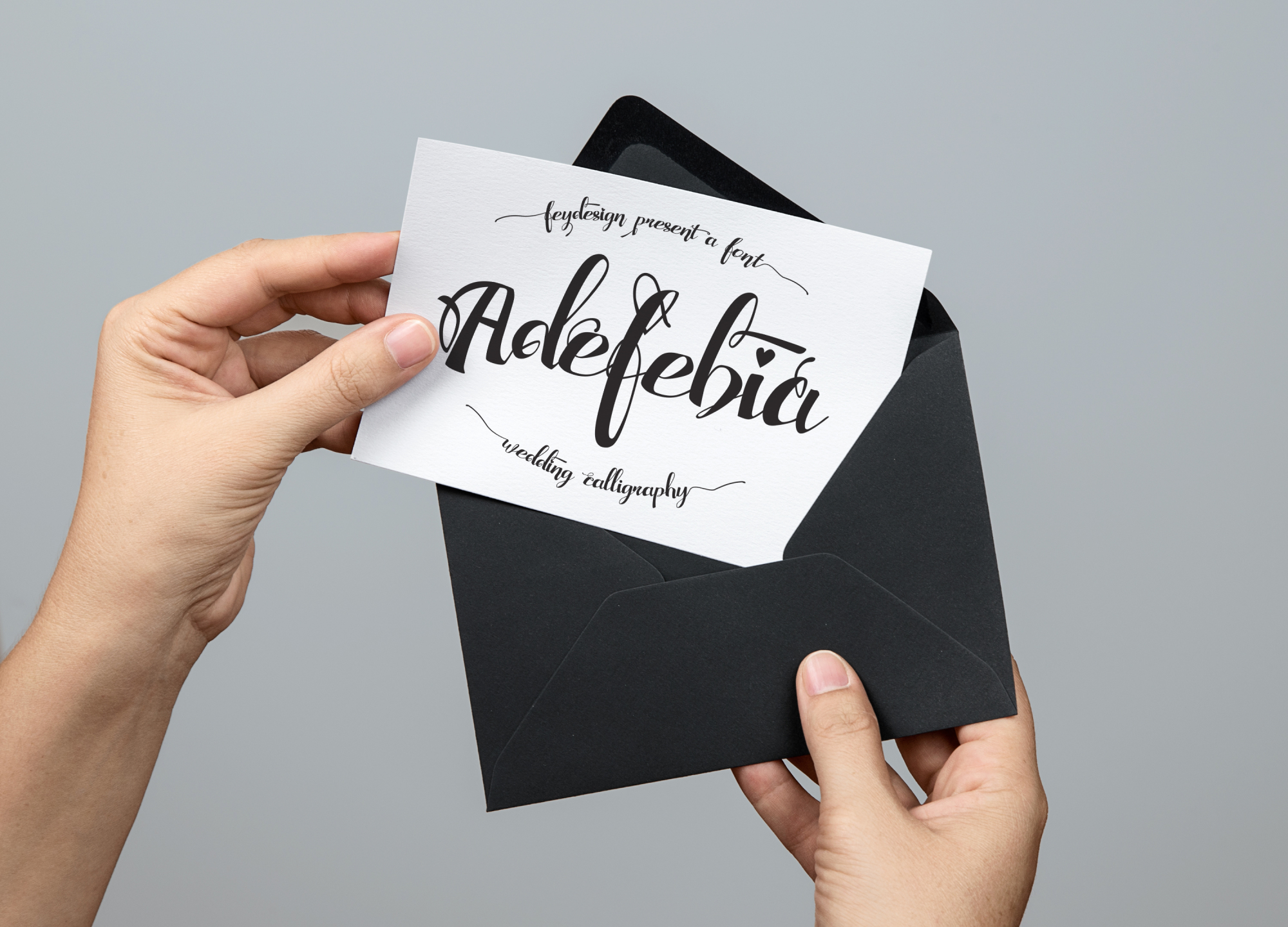 Adefebia Wedding Script Font example image 7