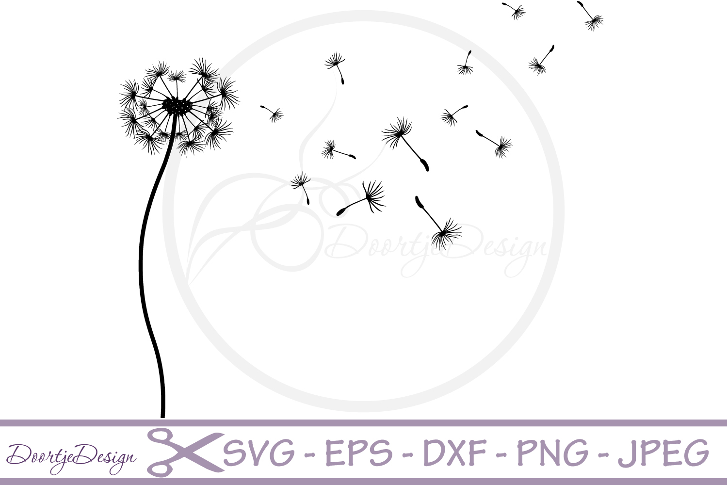 Dandelion SVG vector files