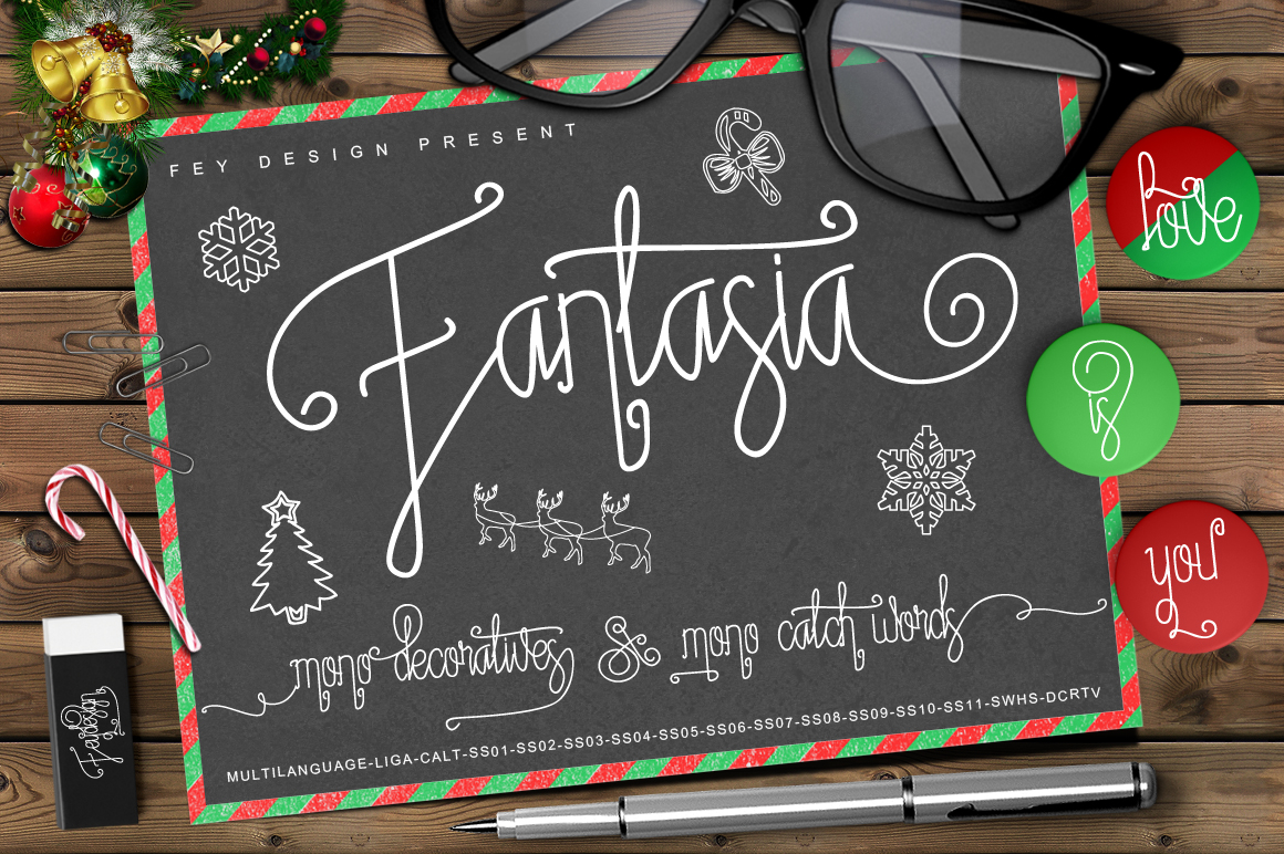 Fantasia Monoline Calligraphy And Bonus example image 1