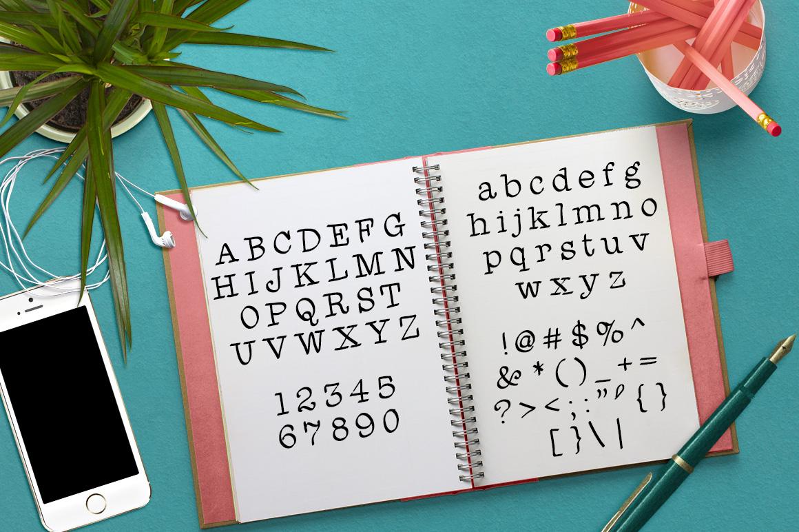 Font No.1, No.2 and No.3 example image 8