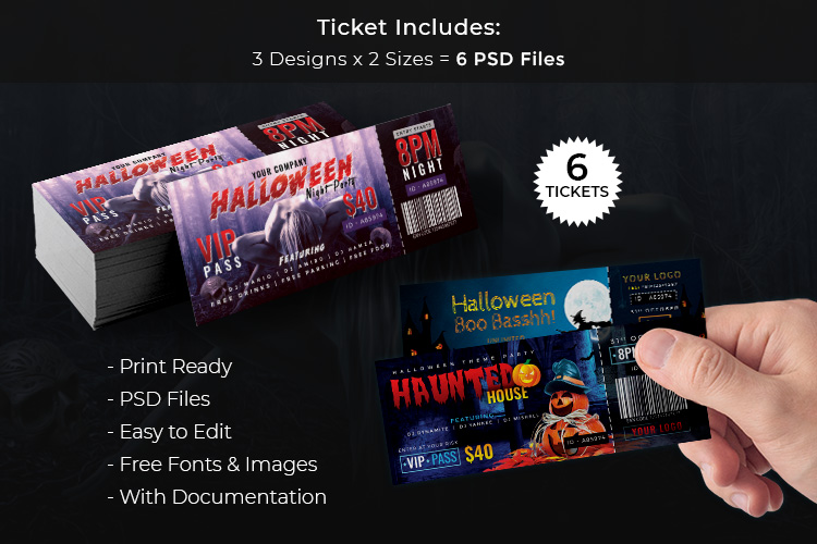 Halloween Big Bundle - flyers, banners, social media etc. example image 3