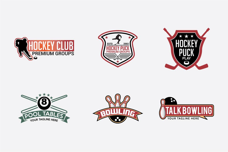 66 SPORTS Logo Templates BUNDLE example image 4
