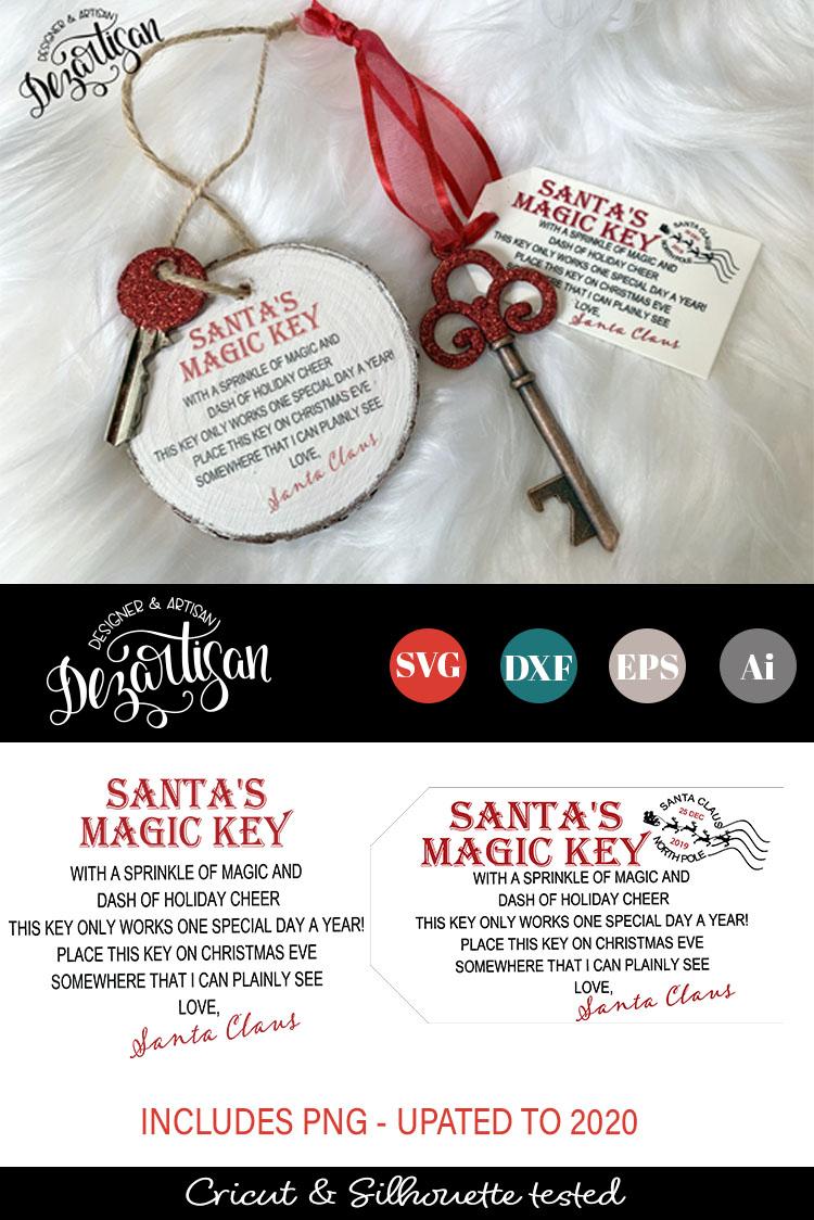 Santa's Magic Key UPDATED SVG DXF PNG cut file example image 3