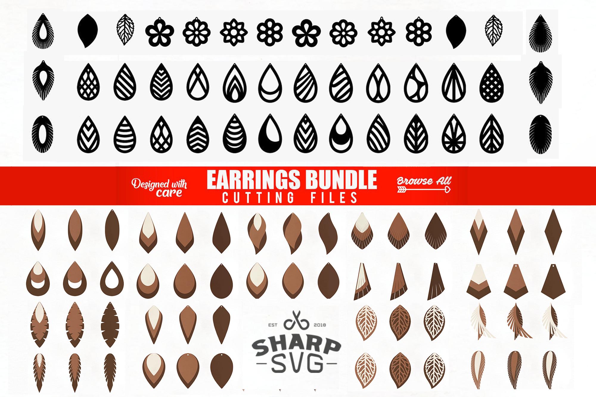 Download Earrings SVG - Teardrop SVG - Cutting Templates BUNDLE ...