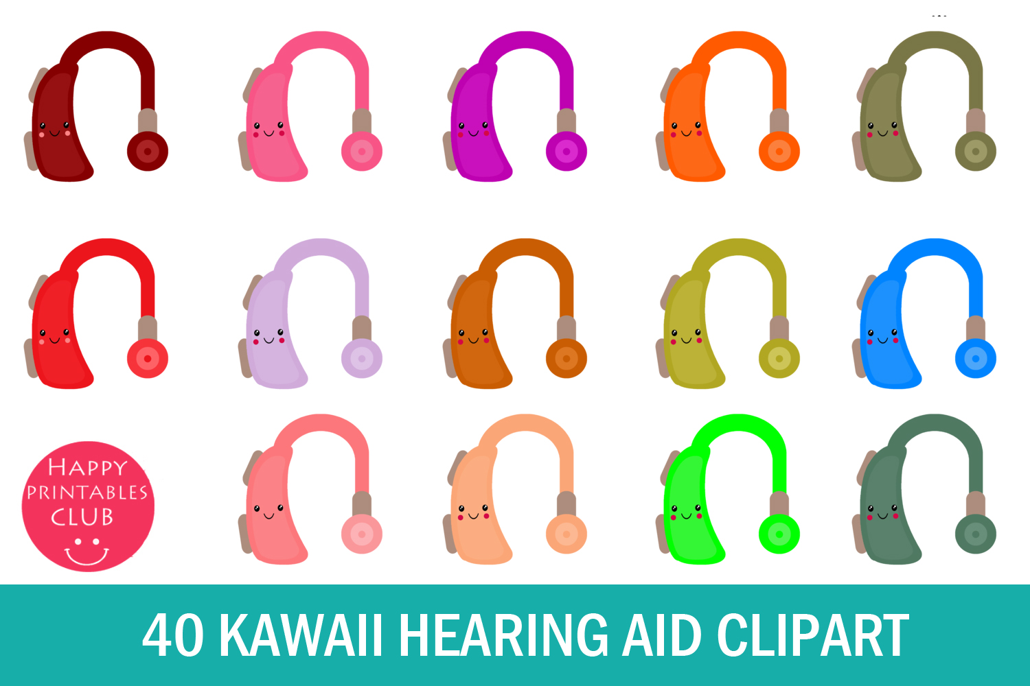 40 Kawaii Hearing Aid Clipart- Hearing Aid Clipart Images example image 1