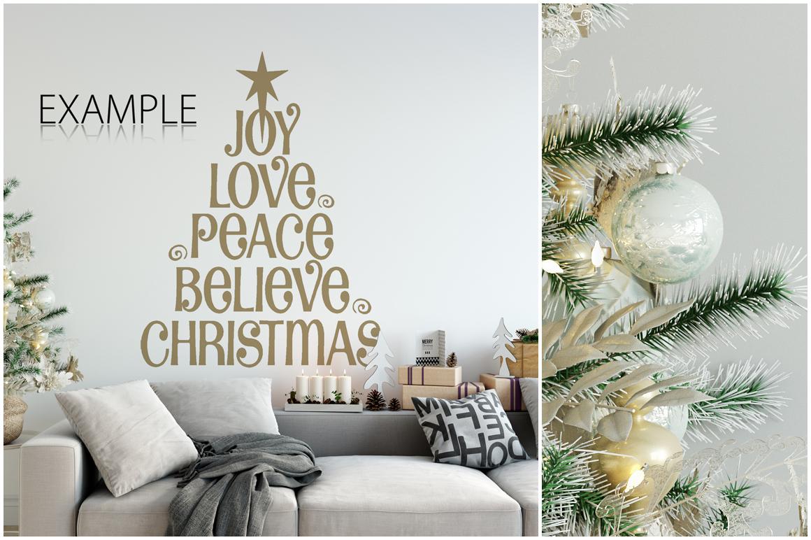 Christmas Wall Mockups example image 6