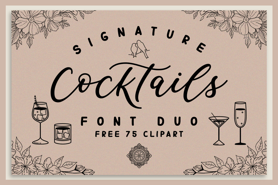 Signature Cocktails Font Duo example image 1