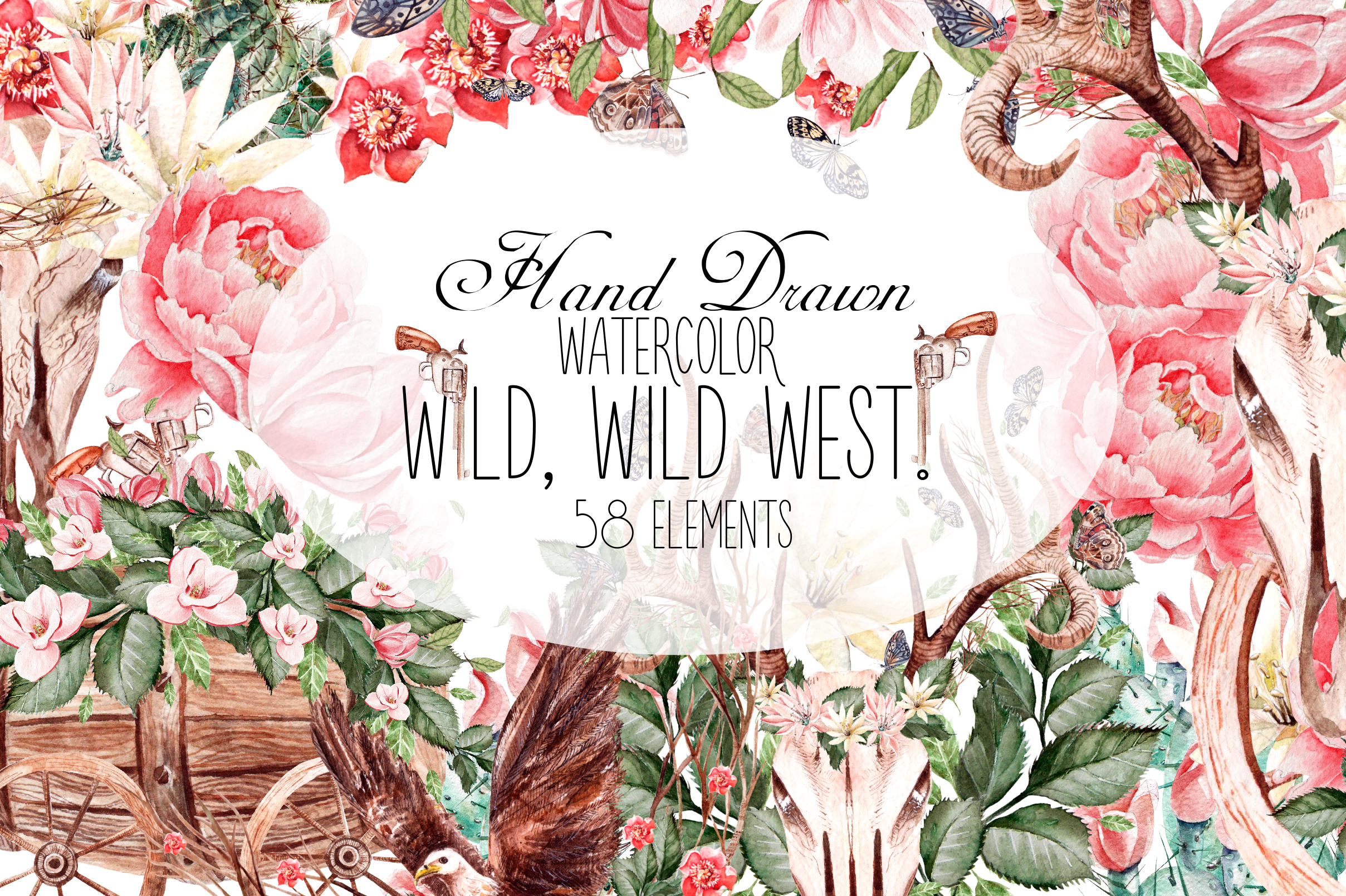 HandDrawnWatercolor WILD, WILD WEST! example image 1