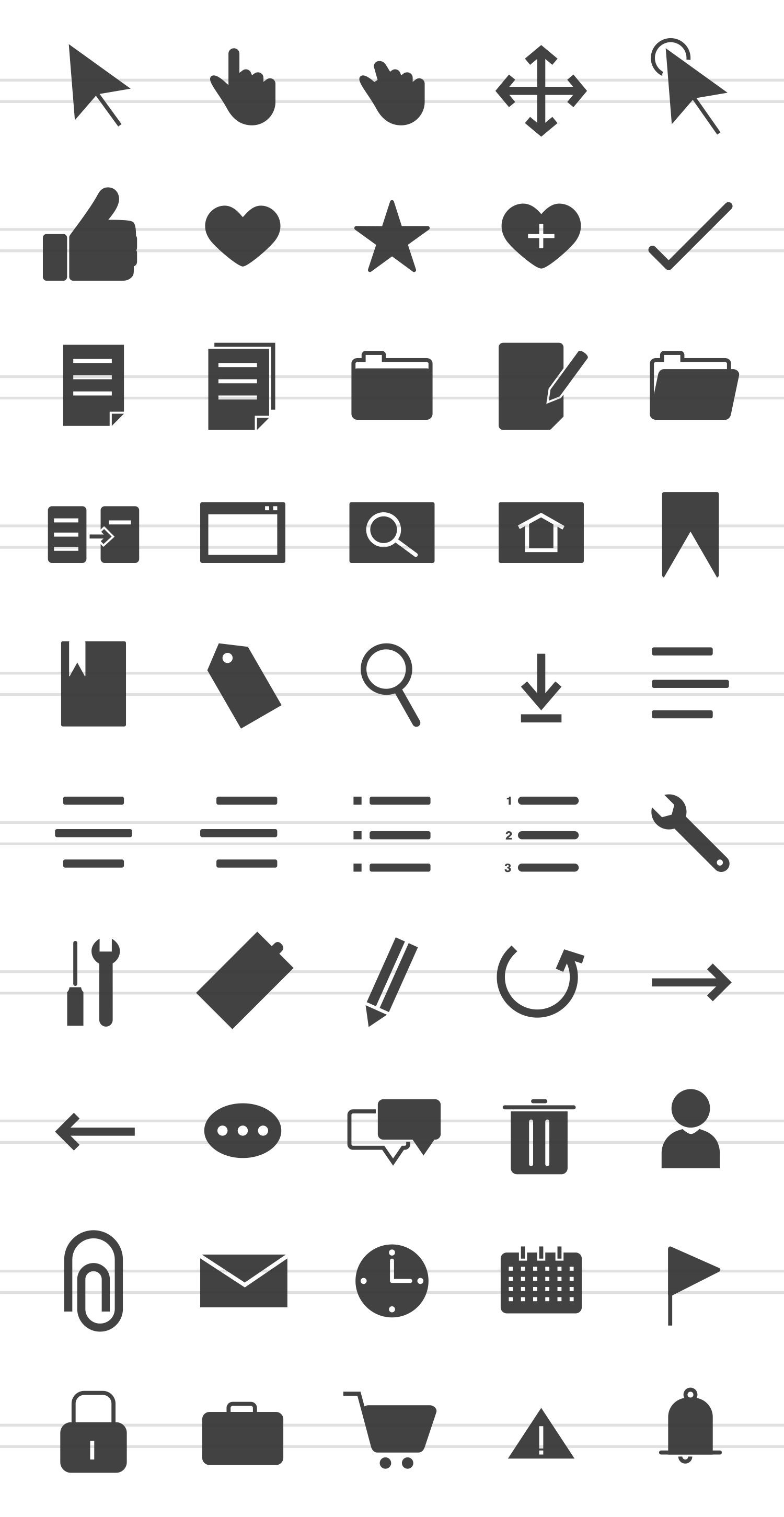 50 Web Interface Glyph Icons example image 2