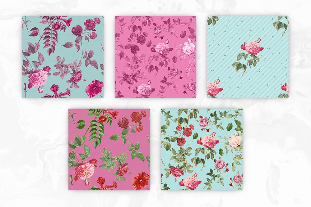 Tileable Floral Vintage Backgrounds example image 2